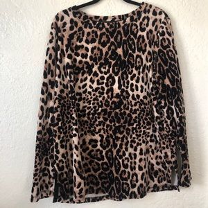 WHITE STAG | Leopard long sleeve sweater